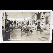 RPPC Taxidermy ca.1910, Morse Museum Warren New Hampshire, postcard
