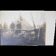 RPPC Hunting Camp ca.1915, tent, postcard