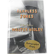 """=Signed 1st Edition= Walter Mosley: """"Fearless Jones"""""""