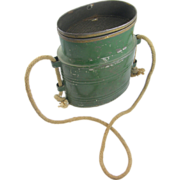 =Original Paint= ca.1910 green minnow bucket =Fishing= ..