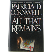 """=Signed 1st Edition= Patricia Cornwell: """"All that Remains"""""""