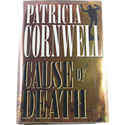 "=Signed 1st Edition= Patricia Cornwell: ""Cause of Death"""