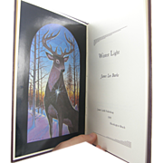 "=Double-Signed Limited 1st Edition= James Lee Burke: ""Winter Light"" =Leather="