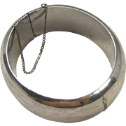 1960's bangle, sterling 950 silver