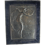 1803-1903 Swiss independence from France, bronze plaque S. Burger - Bartman ARGENT