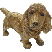 ca.1900 standing hunting dog, spaniel, cast iron doorstop