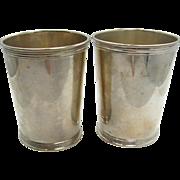 =PAIR= mint julep cups sterling silver, Benjamin Trees, Lexington Kentucky