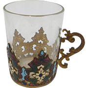 ca.1900-1920's Bohemian espresso coffee tea cup holder