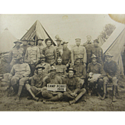 =RARE= 1909 Camp Perry U.S. Army Cavalry, bivouac portrait, tent camping
