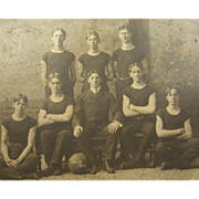 =RARE= 1902 basketball team photo, Drury University, Springfield Missouri