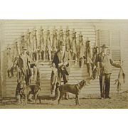 ca.1900 fox hunters, pelts, hounds, shotguns