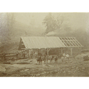ca.1880 Albert Robert's saw mill, steam engine power