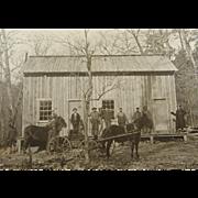 ca.1900 West Virginia lumber camp, Ellsworth Grove, Charles Orwig