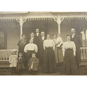Victorian 1890's family portrait, gingerbread mill work, Harrisville West Virginia, Richie County