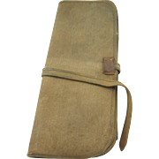 Fly fishing wallet ca.1880-1920, heavy khaki canvas