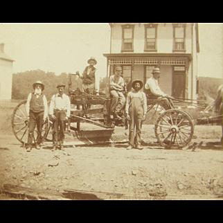 =RARE= ca.1900 advertising, new heavy equipment, road grader, horse drawn