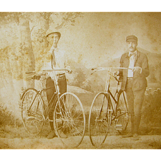 =RARE= ca.1890's early bicycles, pneumatic tires