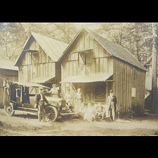 =RARE= 1917 Peerless or 1919 Pan motorcar, Crystal Springs Camp =AUG 1919=