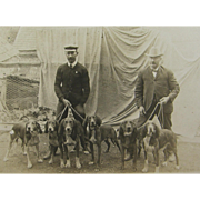 =RARE= ca.1910 pack of hunting hounds, deer bear coon lion