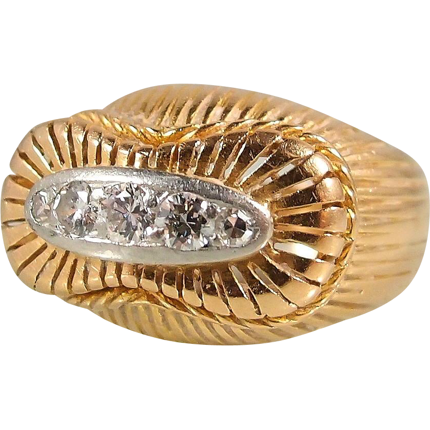 Incredible 1930s craftsmanship in this 18k solid gold and for Diamond stamp on jewelry