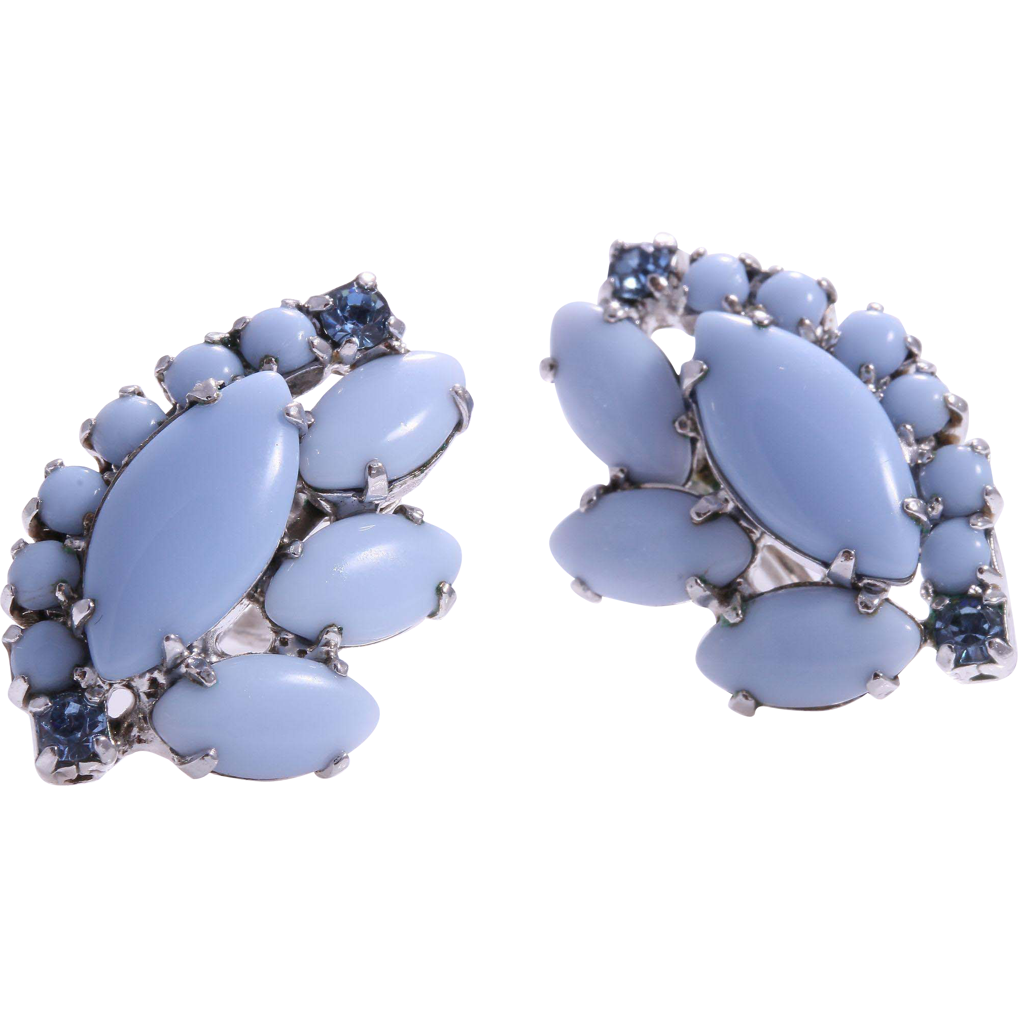 blue collections earrings pointe sandi virtual library glass sea of