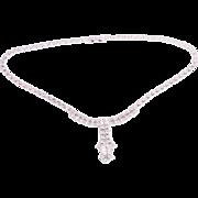 Vintage Bridal Rhinestone Necklace Signed La-Rel