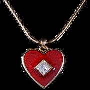 Vintage Yves Saint Laurent Large Heart Pendant Necklace
