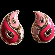 50% Off - Book Piece,  AVON Paisley Pierced Earrings