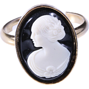 MINT! 1960 Sarah Coventry Cameo Adjustable Ring