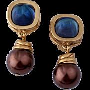 GIVENCHY Paris New York Classy Dangle Earrings