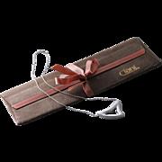 Rare! CIANI Sterling Silver Slide Heart Pendant Necklace in Case (Monet's Fine Jewelry Line)