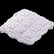 Fine German Sterling Silver Lace Filigree Pin/Brooch