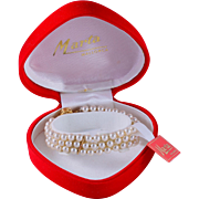 Mallorca Faux Pearl Triple Strand Bridal Bracelet, Original Box