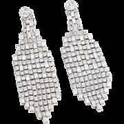 Fabulous Kirks Folly Rhinestone Waterfall Chandelier Clip-On Earrings