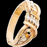 1940s TRIFARI Pat. Pend. Gold-Plated Rhinestone Bracelet, Original Box