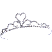 Rare 1950s Weiss Crystal Tiara / Crown