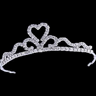 Rare 1950s Weiss Crystal Tiara / Crown