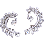 Vintage Pennino Bridal  Crystal Climber Earrings