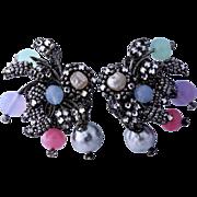 RARE Miriam Haskell 1950s Hess Designed Earrings