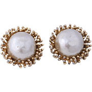 50% Off - Panetta Faux Baroque Pearl Clip-On Earrings