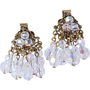 Dazzling Aurora Borealis Crystal Bead Dangle Earrings