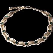 TRIFARI Emerald Green Crystal Gold-Tone Adjustable Choker Necklace