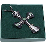 Sarah Coventry Cross Pendant Necklace 1976 Limited Edition