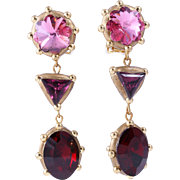 < 50% Off Richard Minadeo Handmade Triple-Drop Crystal Earrings