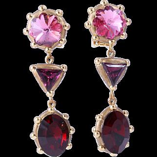 50% Off Richard Minadeo Handmade Triple-Drop Crystal Earrings