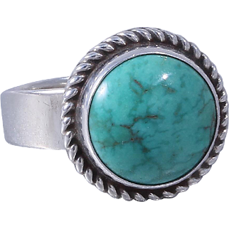 Navajo - Artie Yellowhorse Sterling Silver Turquoise Ring