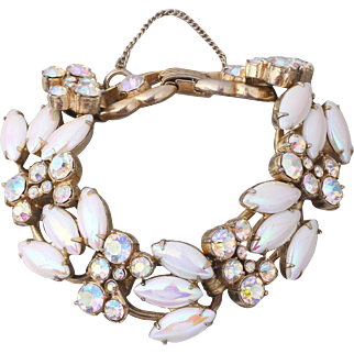 Juliana (D&E) Book Piece Pearlized Navette Rhinestone Bracelet