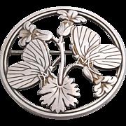 Georg Jensen Book Piece Danish Sterling Silver Butterfly Pin Design # 283