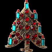 PAKULA Book Piece Elegant Candle Christmas Tree Pin