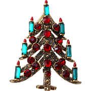PAKULA Book Piece Elegant Candle Christmas Tree Pin